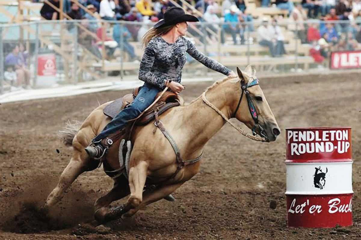 pendleton roundup barrel racing cowgirl magazine