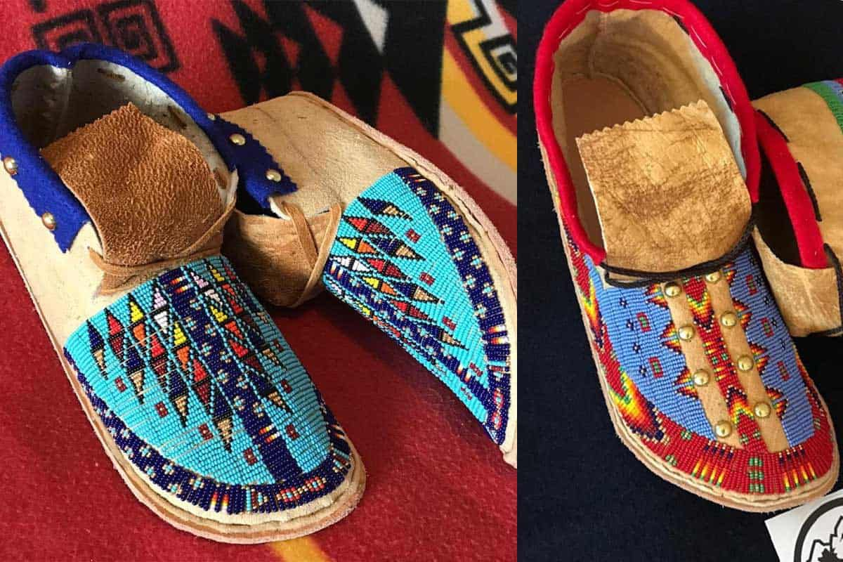 beaded moccasins John Murie cowgirl magazine