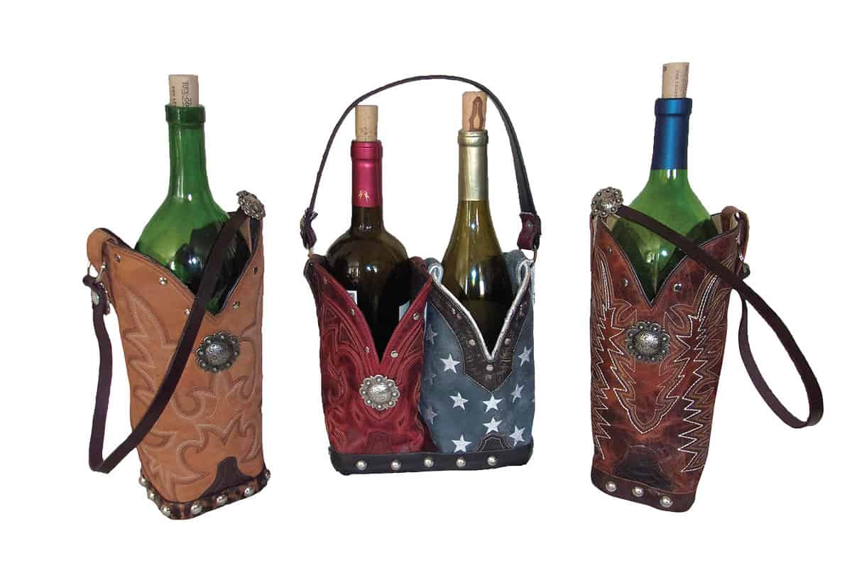 chris thompson bag wine bottle holder cowgirl magazine