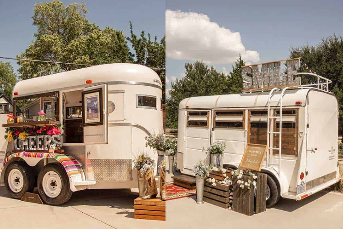 saddles and sapphires Maggie Winston trailer bar trailer Photo Booth cowgirl magazine