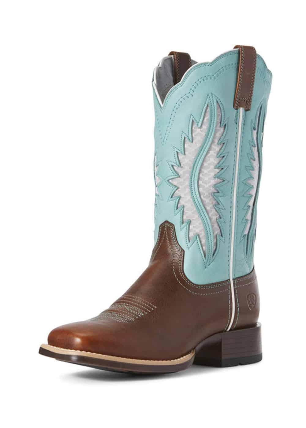ariat venttek turquoise cowboy boot cowgirl magazine