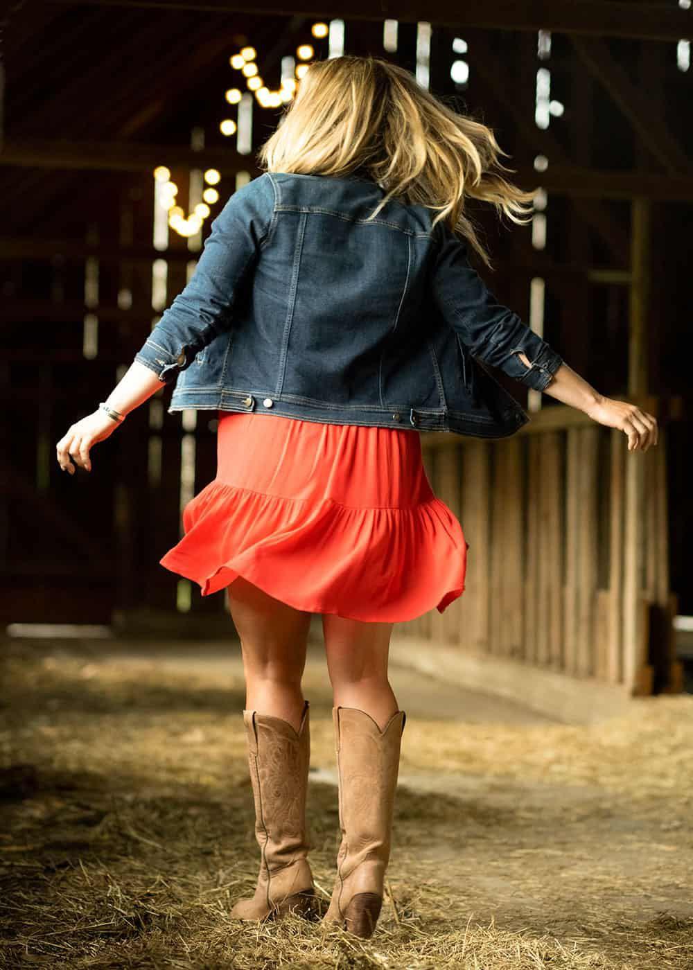 womens strapless tie neck dress fall line cowgirl magazine