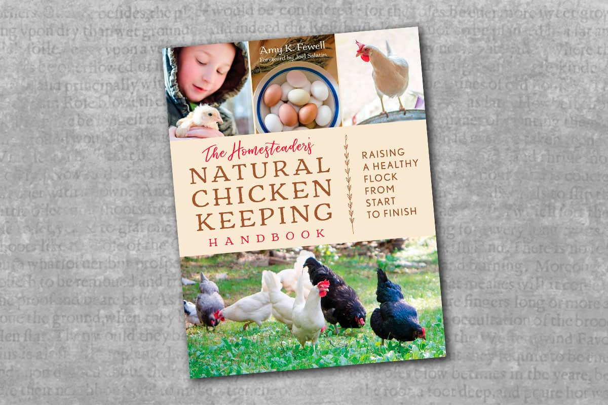 the homesteaders natural chicken keeping handbook raising a healthy flock from start to finish book cover on a gray background cowgirl magazine