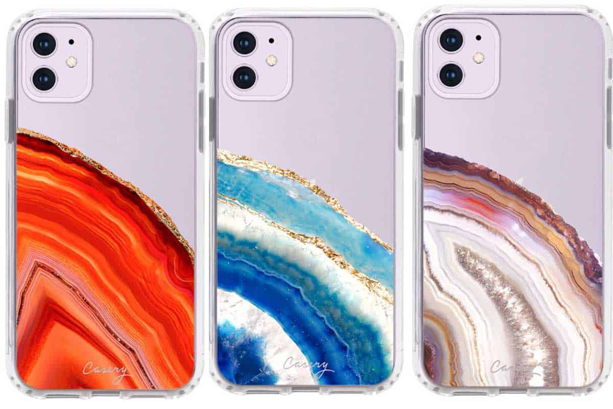 Casery dusty agate geode floral marble animal print new phone case iPhone 11
