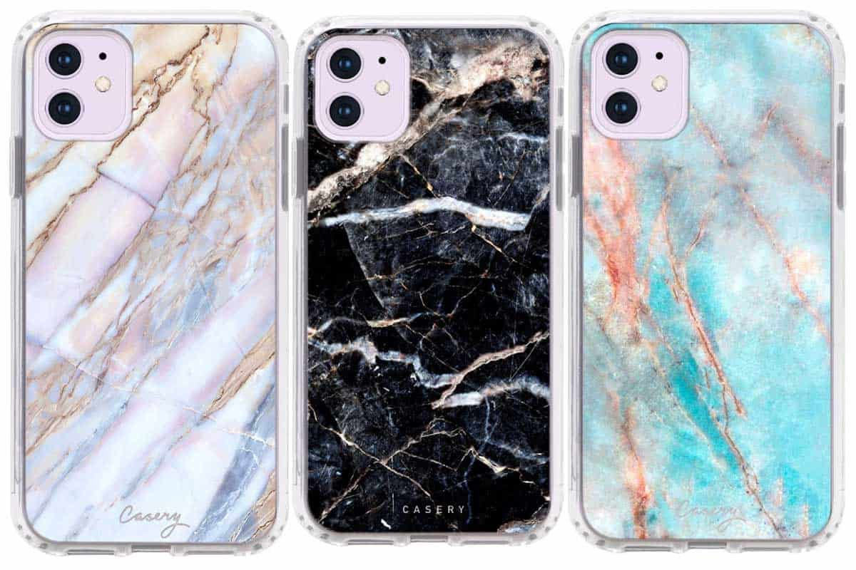 Casery dusty agate geode floral marble animal print iPhone 11