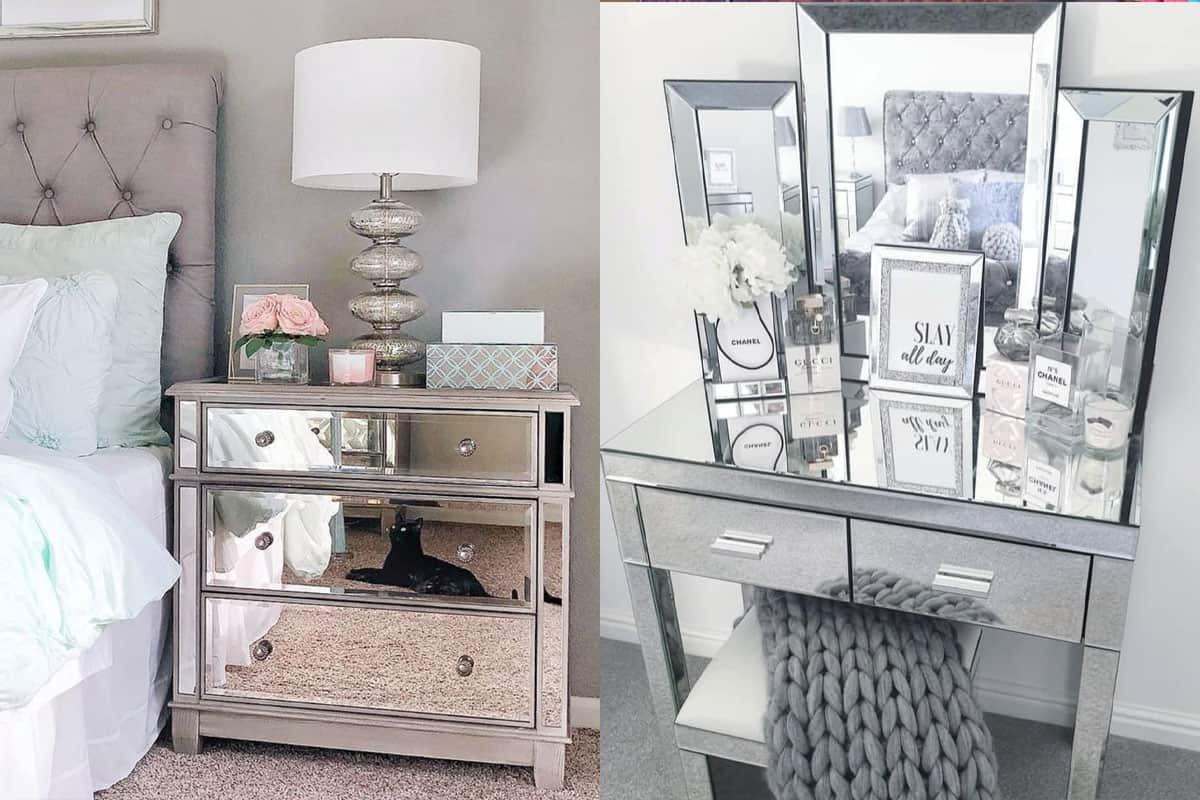 mirrored furniture cowgirl magazine mirror mirrors