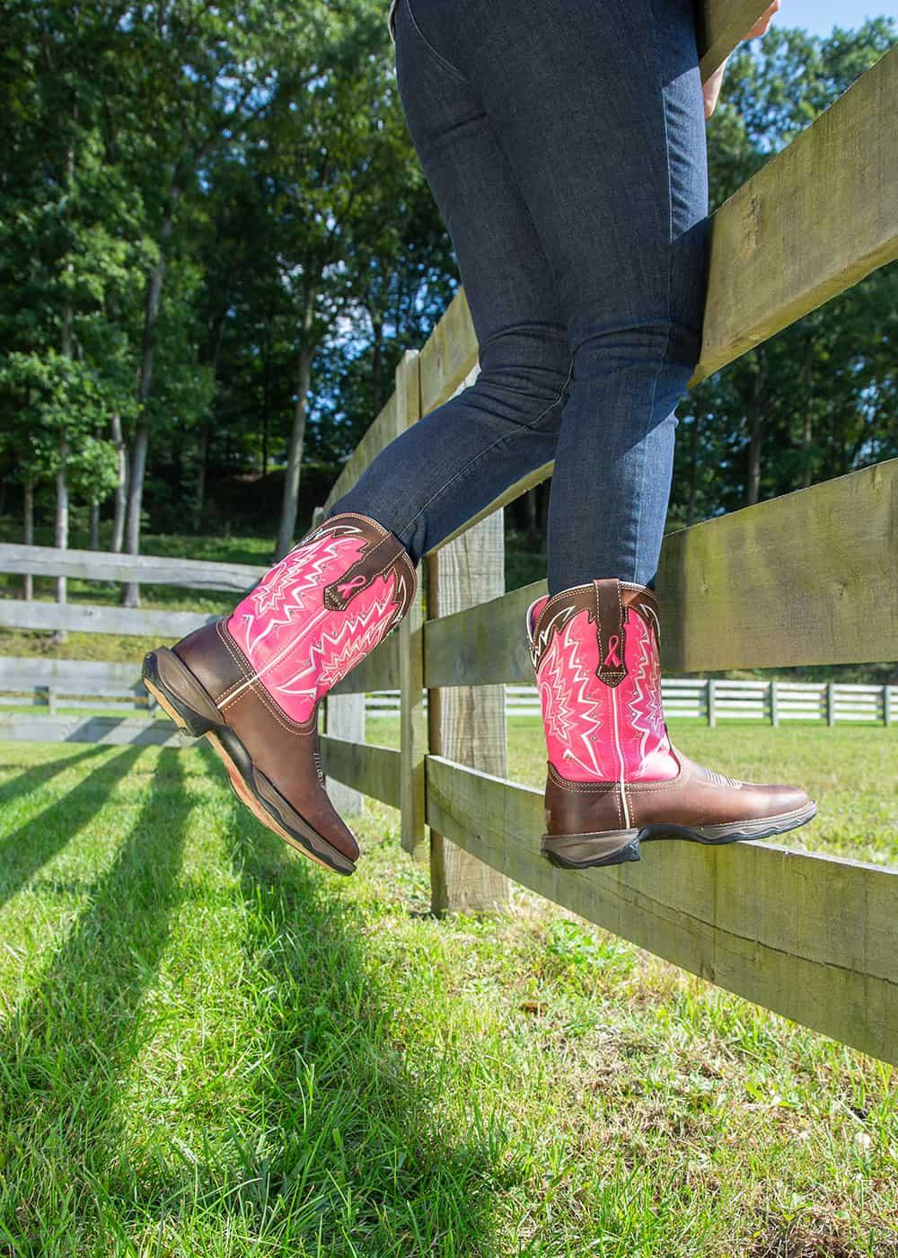 durango lady rebel breast cancer boots cowgirl magazine