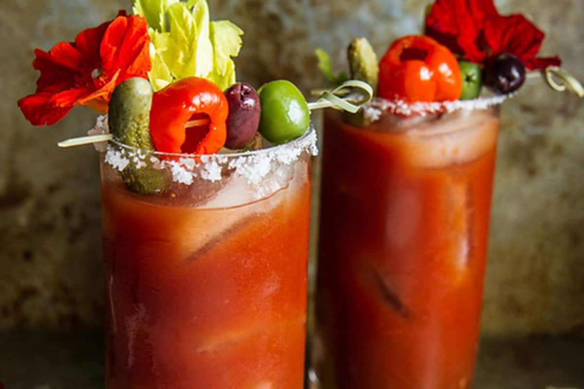 Roasted Red Pepper Bloody Mary cowgirl magazine