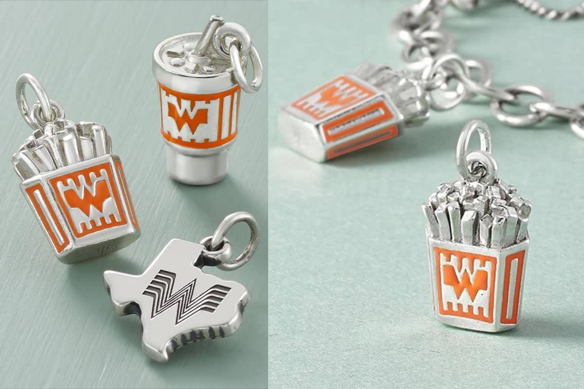 James Avery whataburger charm bracelet charms