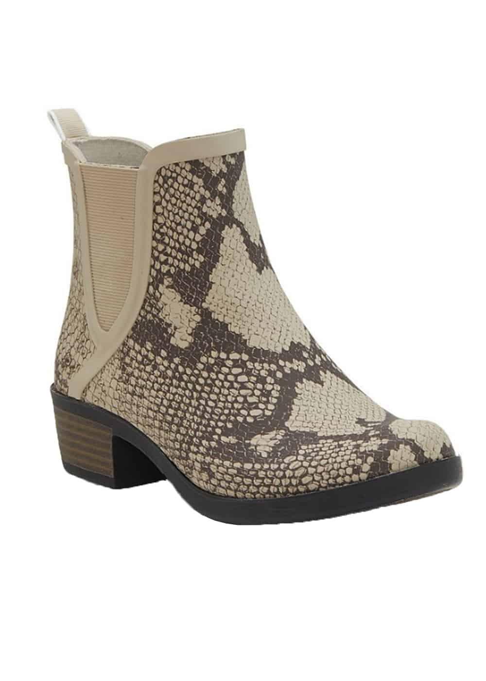 lucky brand python rain boots cowgirl magazine