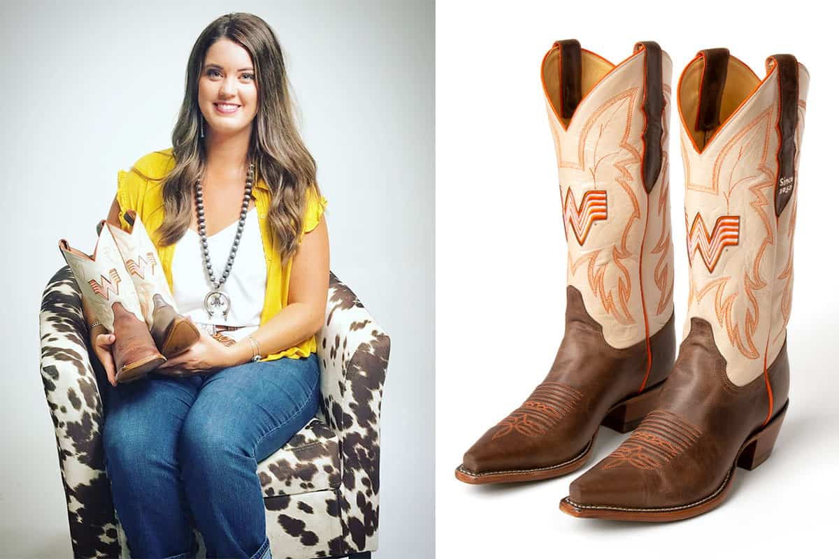whataburger boot whataburger what a boot what-a-boot cowgirl magazine