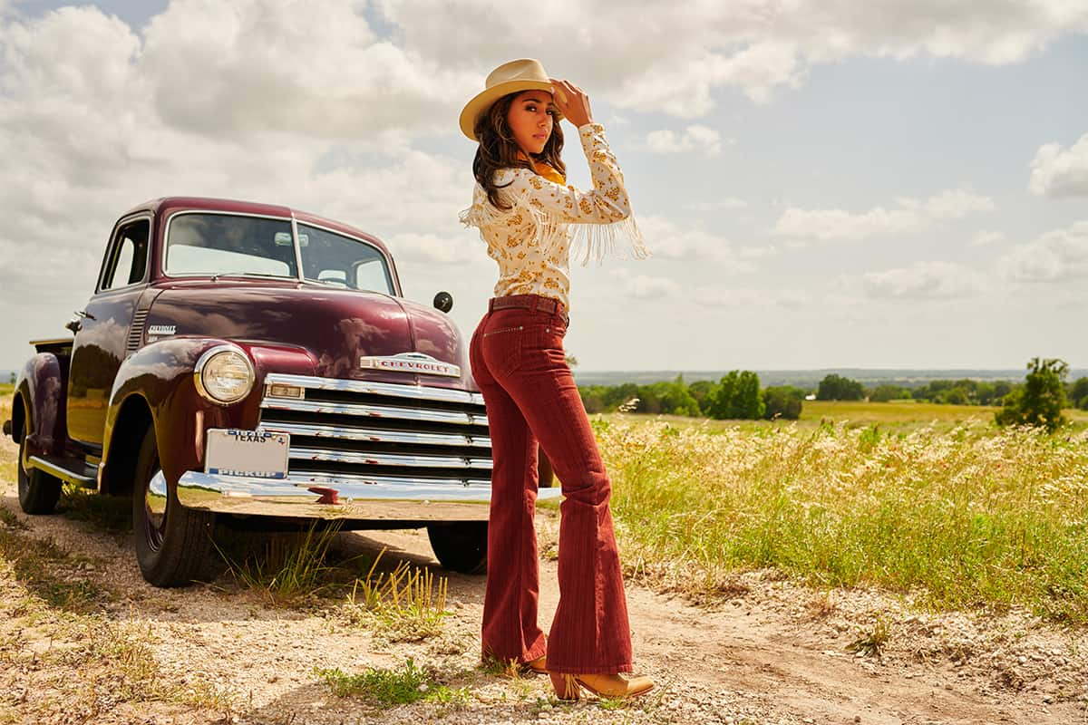 mid rise red corduroy jeans cowgirl magazine