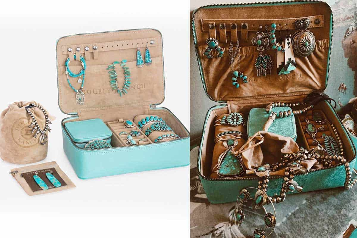 Santa Fe jewelry travel case double d jewelry travel case cowgirl magazine Santa Fe jewelry travel case double j ranch