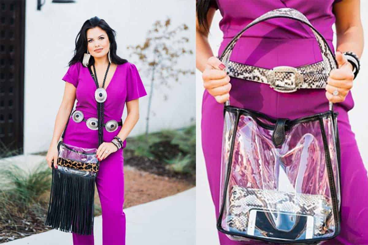 clear double j bag cowgirl magazine