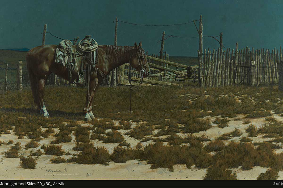 Mikel Donahue art western art cowgirl magazine