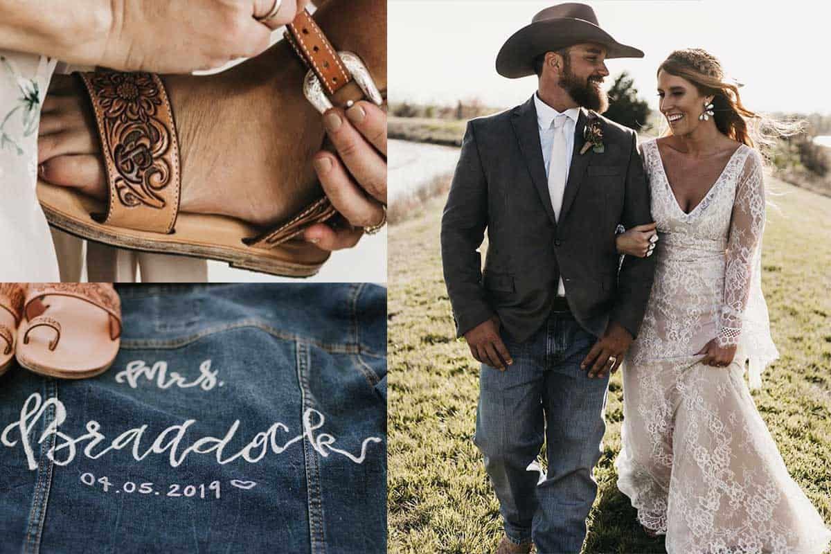 wedding day details cowgirl magazine bride bridal weddings