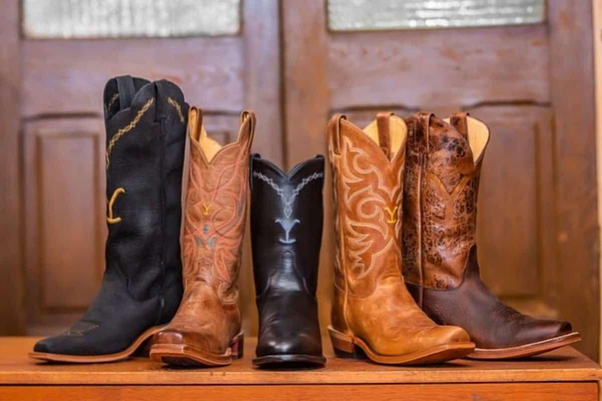 Justin boots yellowstone John Dutton Beth Dutton rip cowgirl magazine