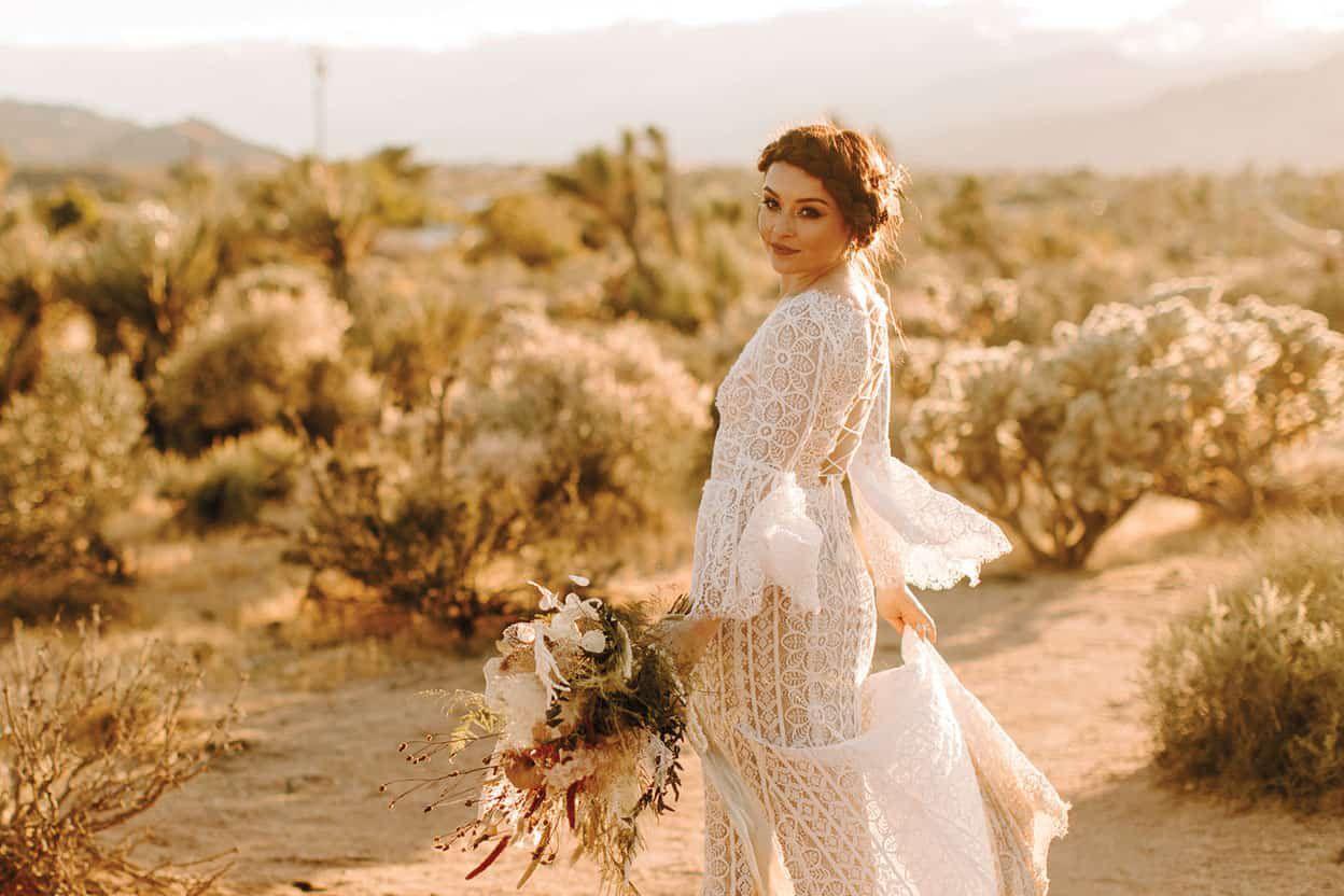 BHLDN Wedding Dress Cowgirl Magazine