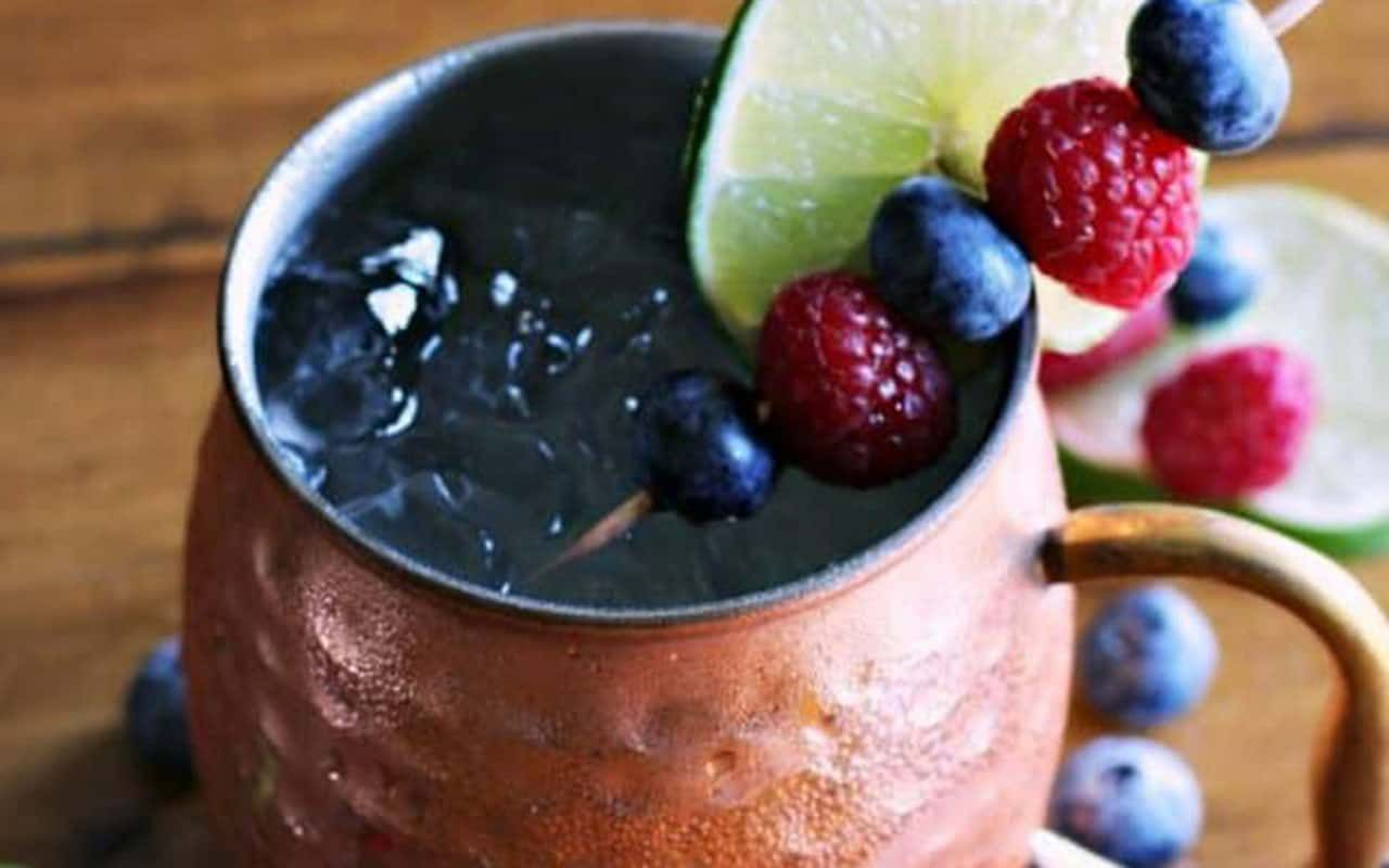 mixed berry moscow mule
