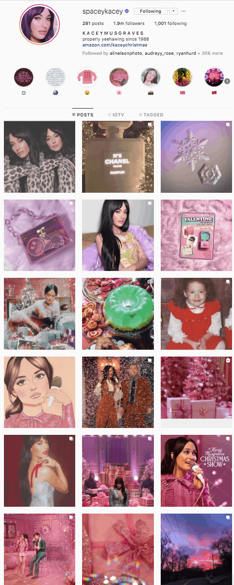 kacey musgraves pink insta theme cowgirl magazine