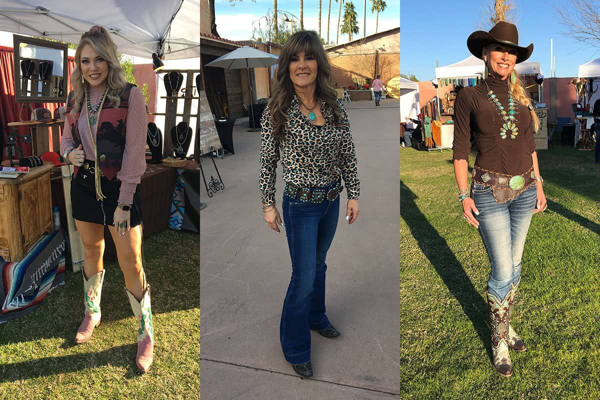 style round-up art of the cowgirl