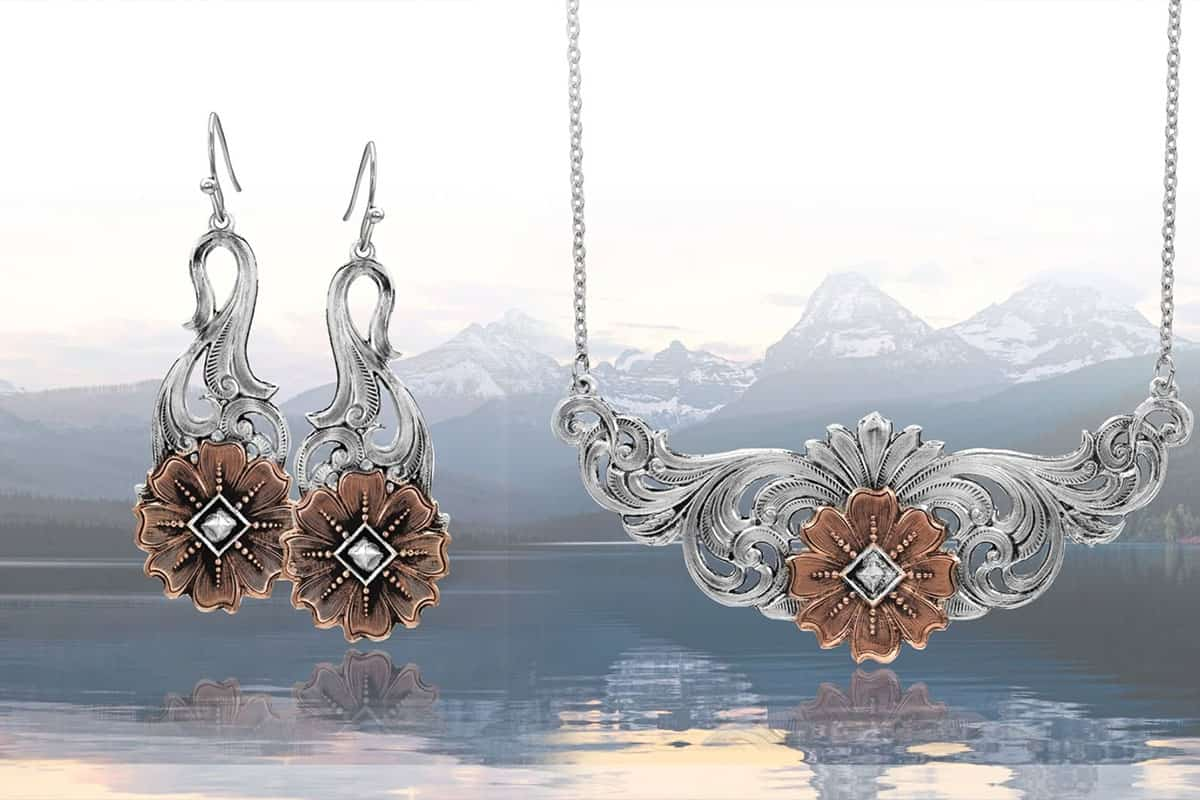 wildflower kaleidoscope Montana Silversmiths jewelry cowgirl magazine
