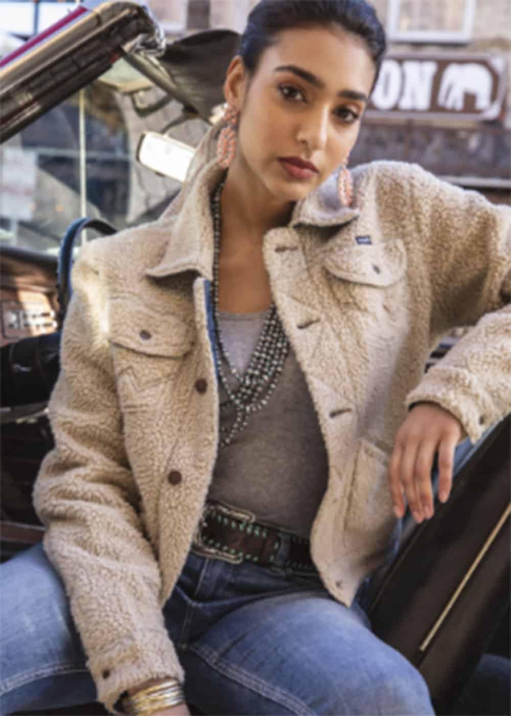 wrangler outerwear sherpa jacket cowgirl magazine