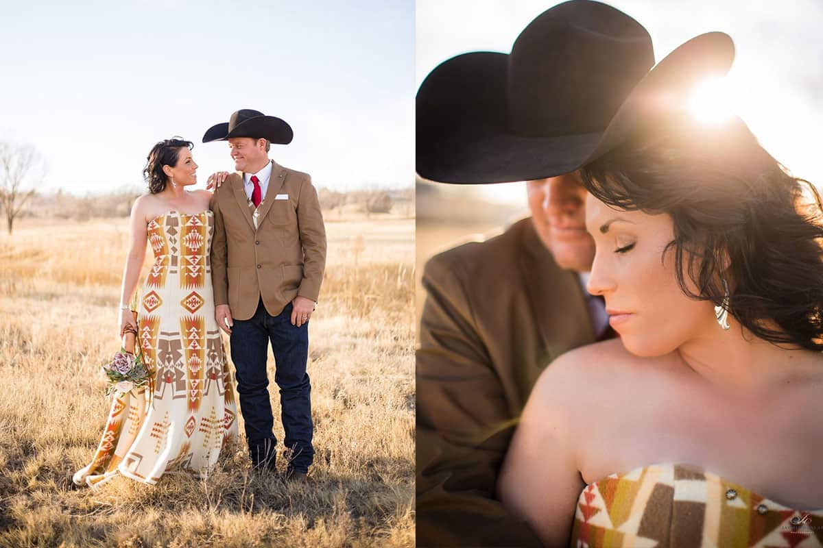pendleton wedding weddings bride bridal pendleton wedding dress cowgirl magazine