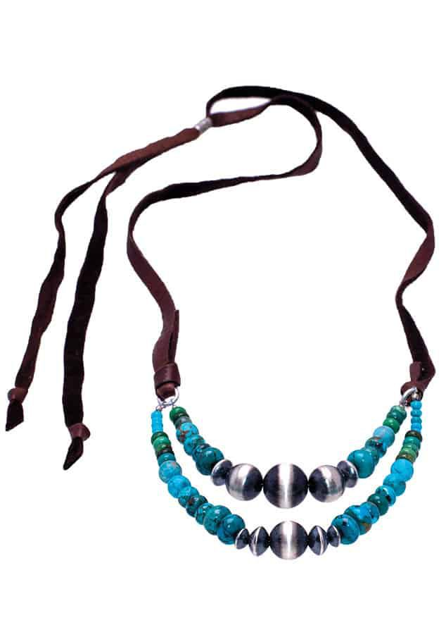 Navajo Pearl Turquoise Necklace magazine