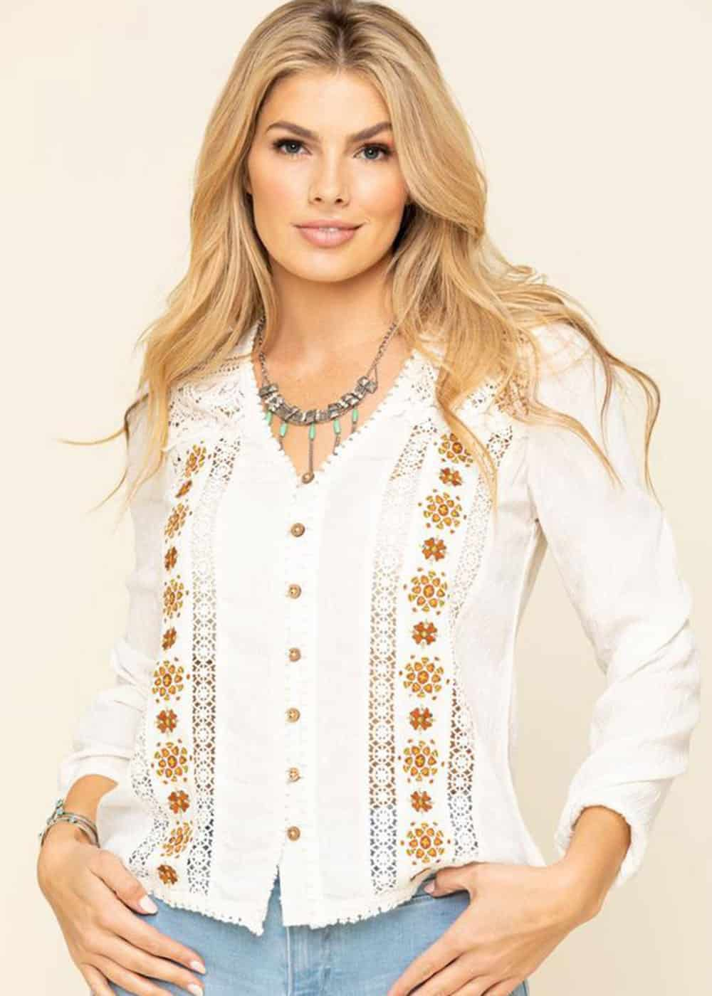 white floral top cowgirl magazine