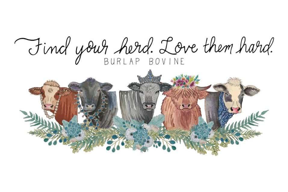 Burlap Bovine Cowgirl Magazine