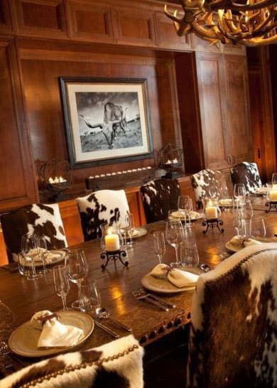 Cowhide Dining Room Cowgirl Magazine