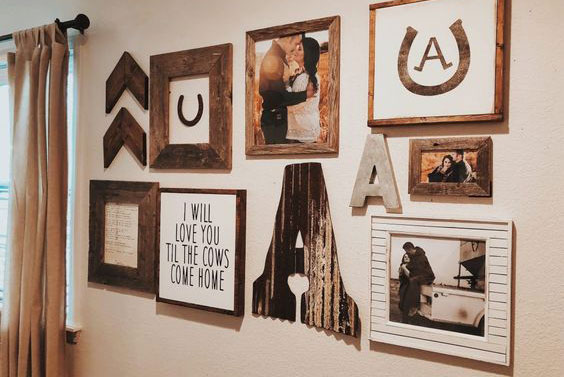 Wood Gallery Wall Cowgirl Magazine