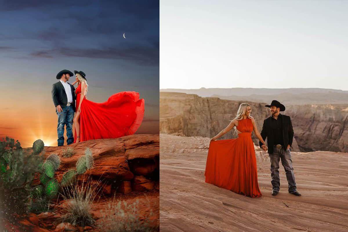 horseshoe bend Arizona Kelsey Darby lace cactus lady cowgirl magazine wedding weddings engagement