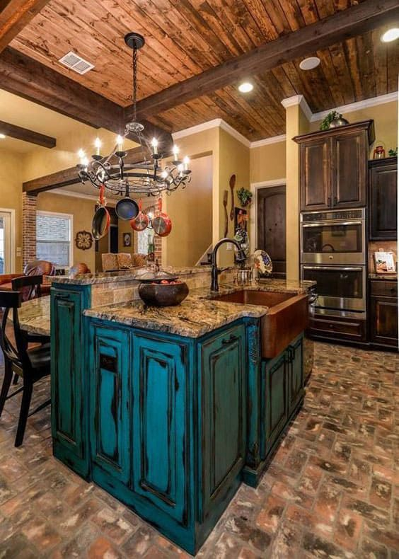 Turquoise Cabinets Cowgirl Magazine