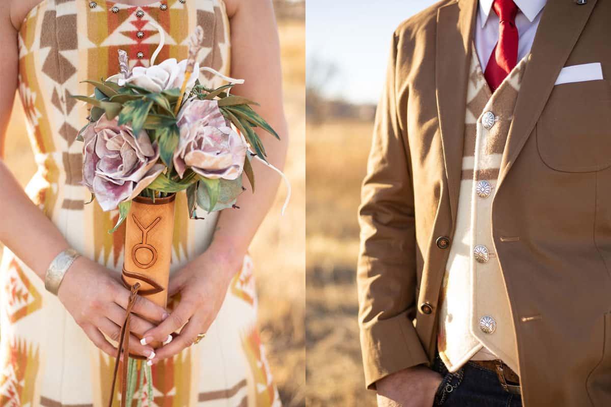 pendleton wedding weddings bride bridal pendleton wedding dress cowgirl magazine