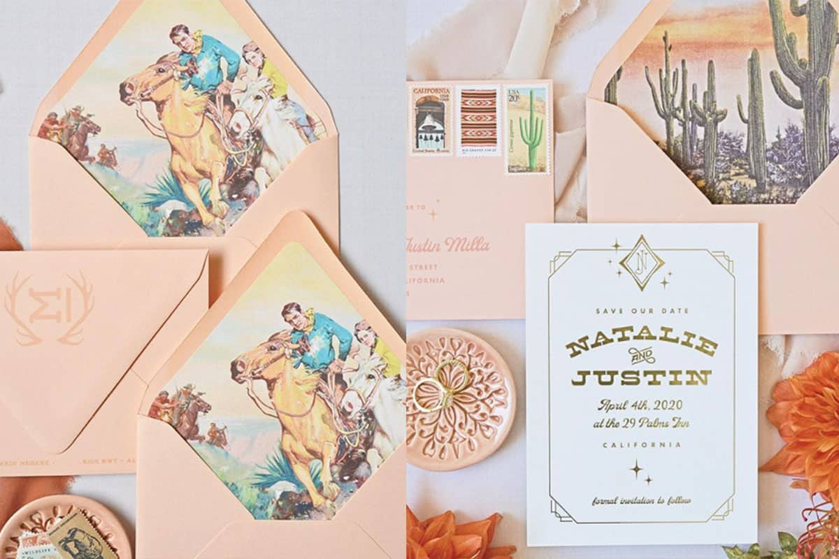 summit and sage Alex invitation invitations save the dates cowgirl magazine wedding bride bridall cowgirl magazine