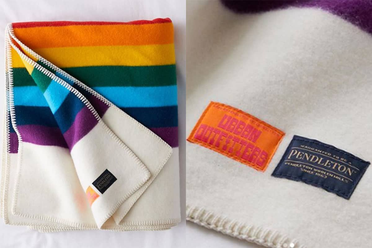 rainbow blanket pendleton urban outfitters cowgirl magazine