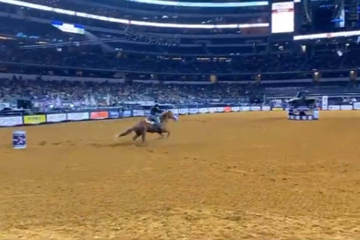 rfd-tv american rodeo night 1 barrel racers cowgirl magazine