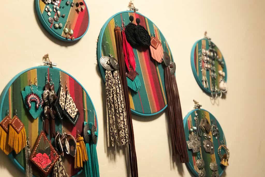 Serape hoop Earring Holders Cowgirl Magazine