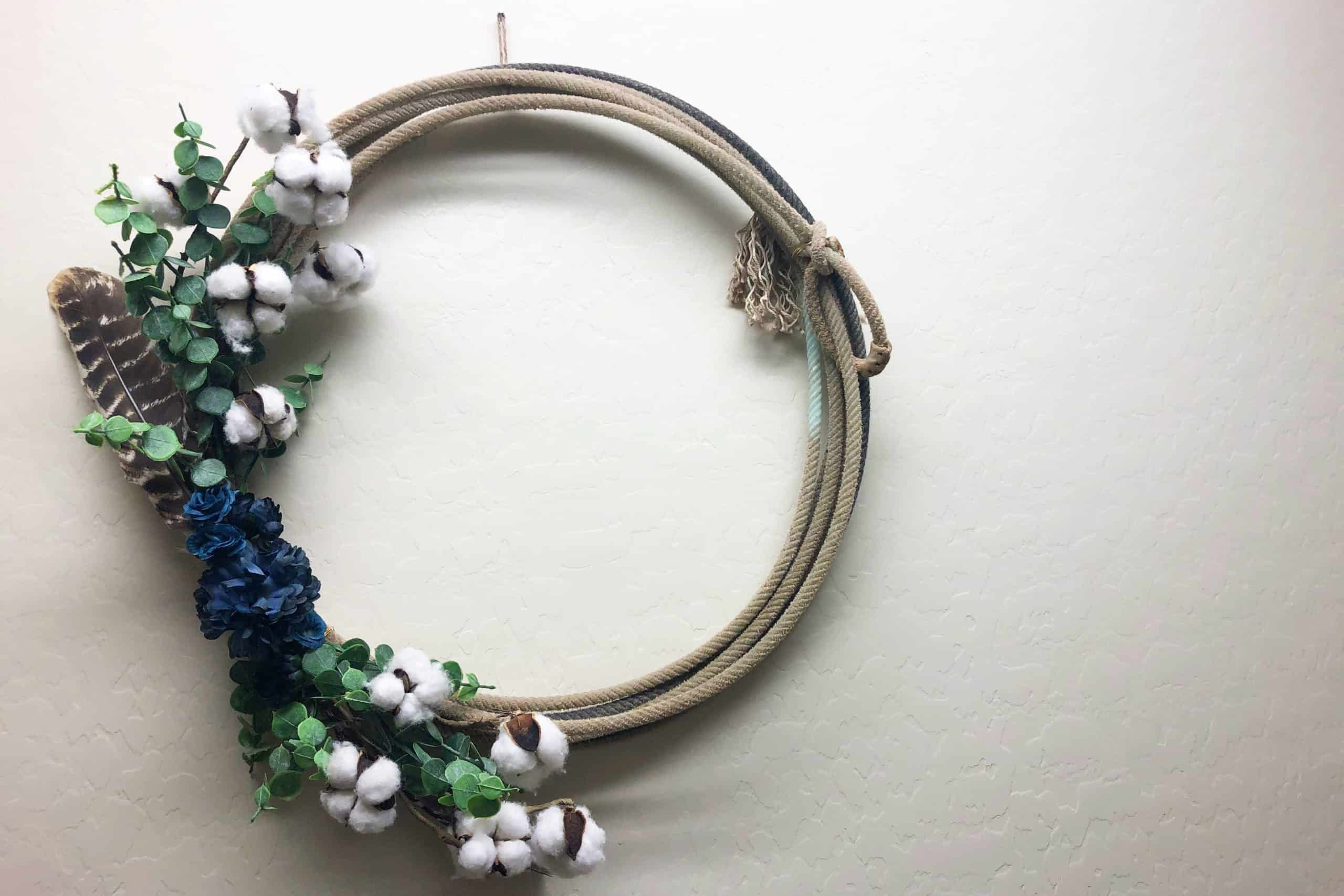Rope Wreath Cowgirl Magazine