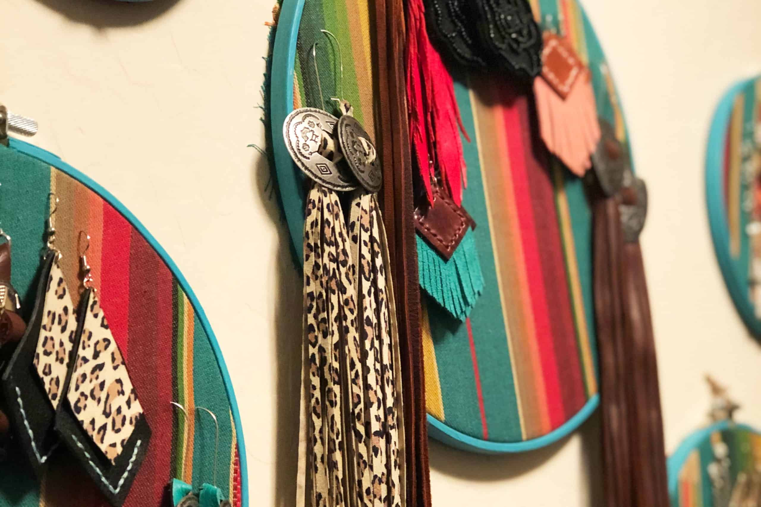 Serape Earring Holder Cowgirl Magazine