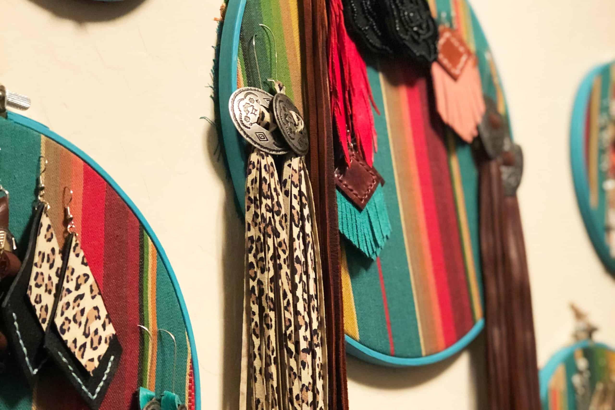 Serape Earring Holder Cowgirl Magazine