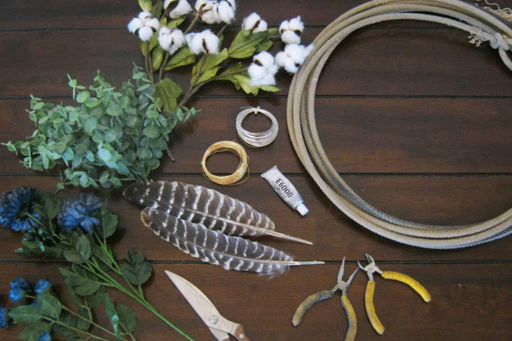 Cotton Rope Wreath Cowgirl Magazine