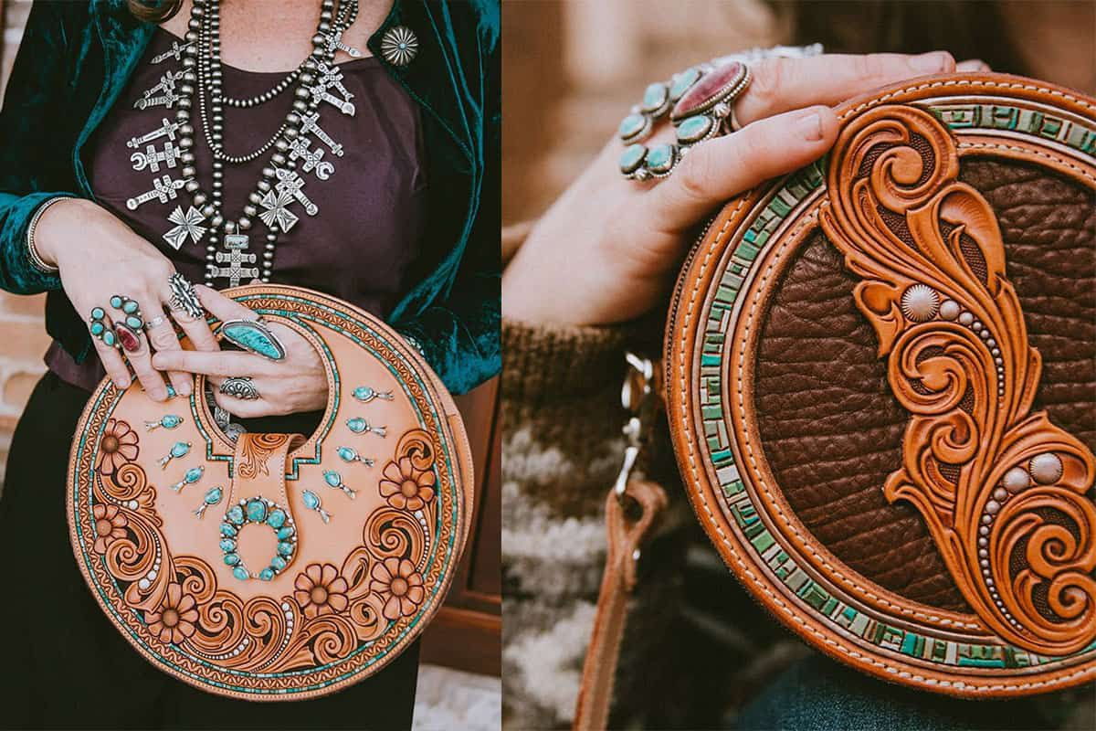 western skies handmade cowgirl magazine seeing circles circle purses cowgirl magazine