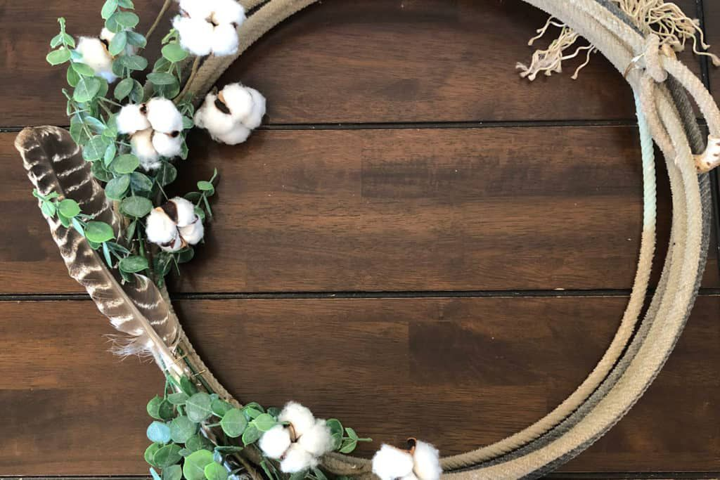 Turkey Feather Wreath Cowgirl Magazine
