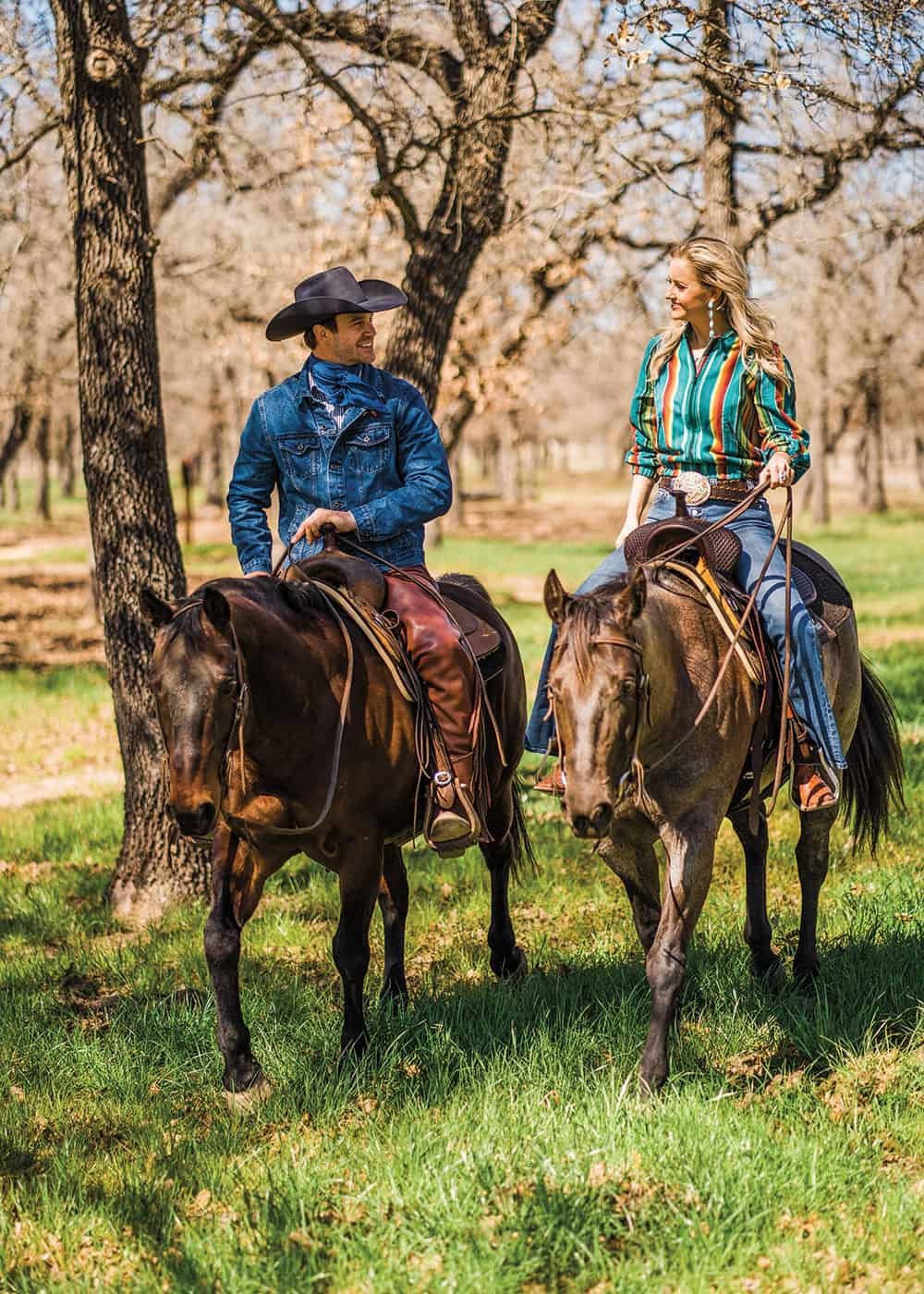 horses in forest cowgirl magazine