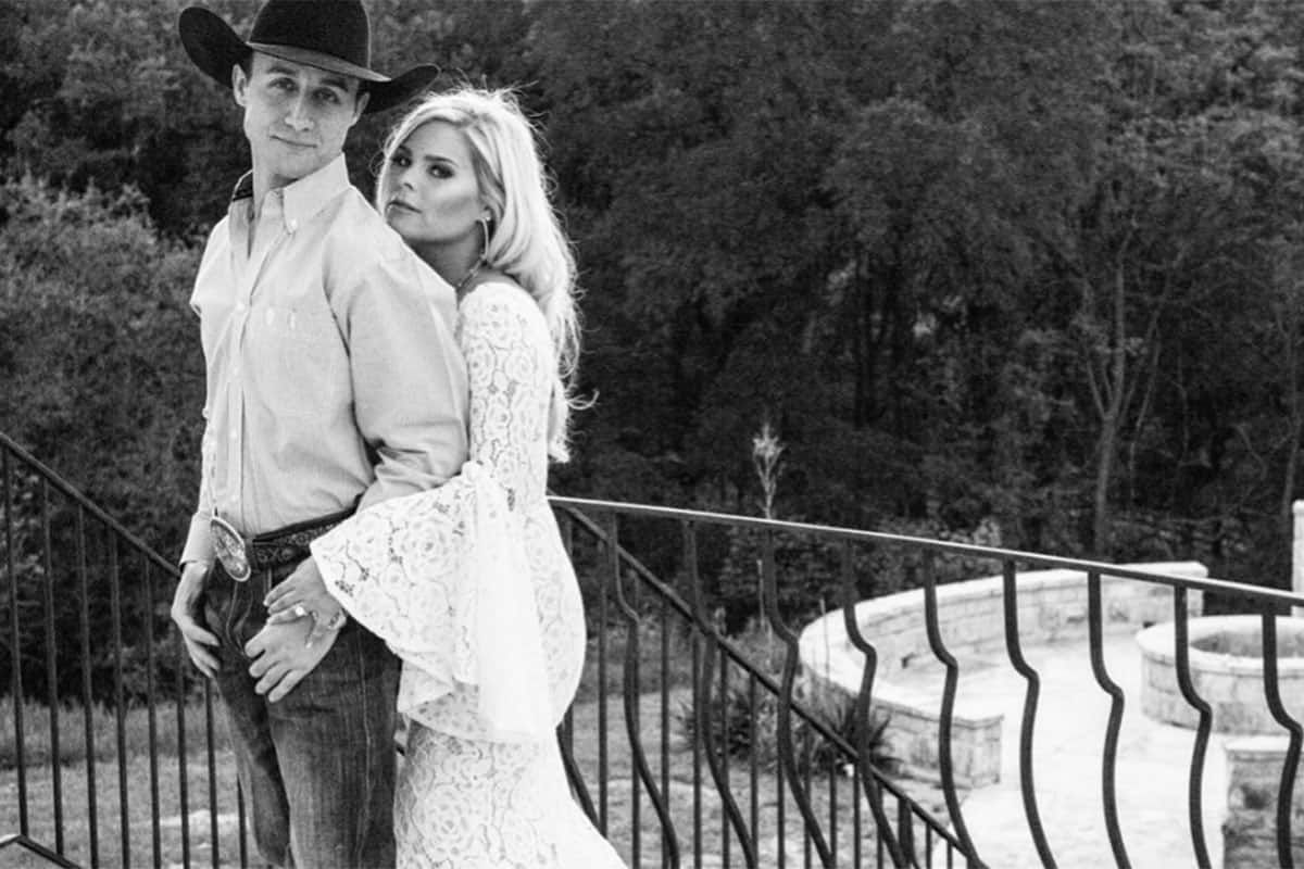 alexis bloomer and sage kimzey's engagement photos emily rene cowgirl magazine