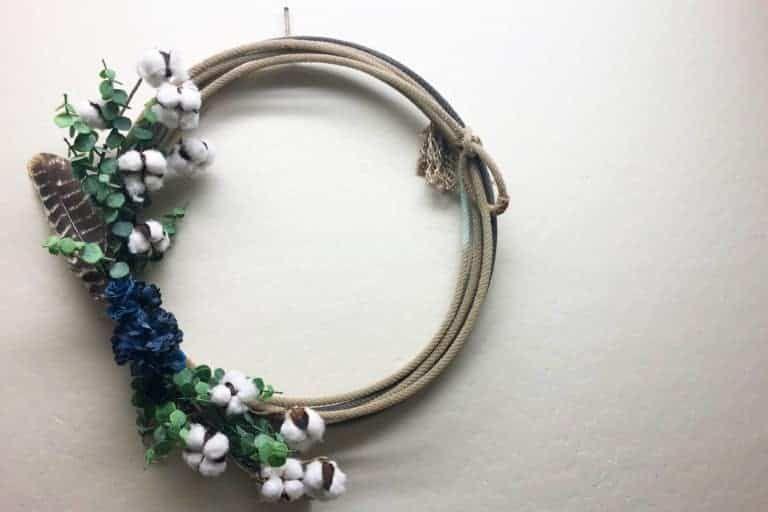 diy rope wreath cowgirl magazine