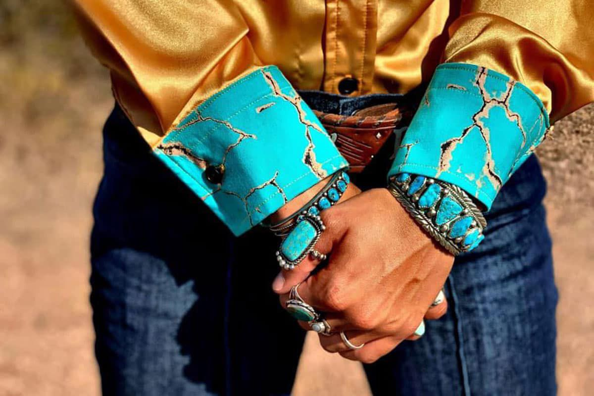 Mustard and Turquoise Rodeo Shirt Cowgirl Magazine